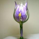 Handpainted Glass - Iris