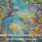 Hand painted Silk