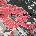 Red Poppy Scarf 100% silk handpainted