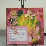 Mixed Media Pink Flowers