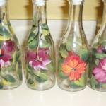 Handpainted Glass - Oil and vinegar